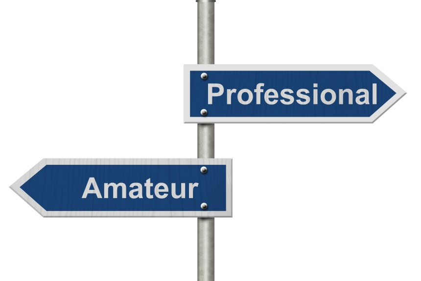 Difference between being a professional or an amateur